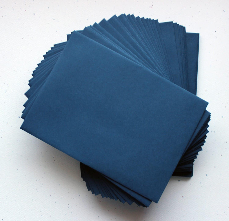 Navy envelopes a7 set matte mailer 5quot x 7quot straight for Wedding invitation envelopes for sale