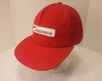 Vintage 1990s Snapback Baseball Cap - ANDREW trucking -  Hipster, Trucker, OTR Trucking, Freight, Cargo, Retro, Mens Accessories