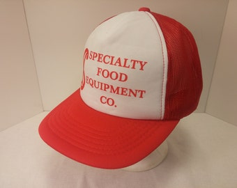 Vintage 1990s Snapback Baseball Cap - Speciality Food Equipment -  Hipster, Trucker, OTR Trucking, Freight, Cargo, Retro, Mens Accessories