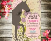 Equestrian Horse Old West Invitation Card Printable Digital - Cream