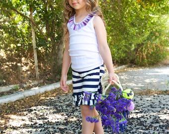 Ruffle Capris - Girls Ruffle Shorts - ON SALE - Toddler Ruffle Pants - Sping Ruffle Pants -Baby Ruffle Leggings-Elastic Shorts-Easter Outfit