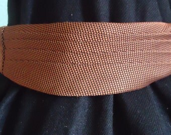Pleated Continental Tie - Rusty Brown