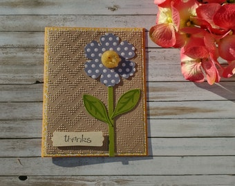 Handmade Greeting Card - Fun Button Flower