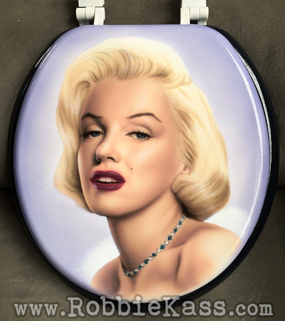 custom painted marilyn monroe toilet seat. Black Bedroom Furniture Sets. Home Design Ideas