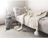 Crochet Pattern Chunky Blanket Throw Afghan Pattern The SUMMIT Blanket