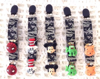 Boys FAB n Fun Mitten Clips.....Toddlers, Big Boys,Mickey Mouse,Winnie Pooh,Cat in the Hat, Spider-Man,Yo GabbaGabba, Brobee,boy mitten clip