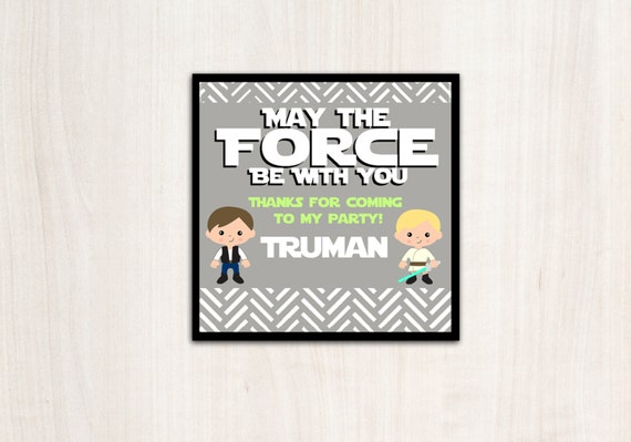 Star Wars {inspired}  Favor Tags -  Space Wars Party Supplies