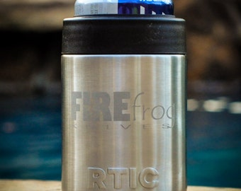 Personalized RTIC, YETI or Ozark Trail Can holder Permanently Etched, Custom Design