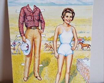 Vintage Postcard Nancy Reagan Rancher Nancy Republican Former First Lady