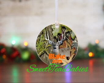 Camo ornament, Deer hunting, Deer ornament, hunting ornamant,  deer hunters ornament, custom ornament, camouflage ornament,hunting gift