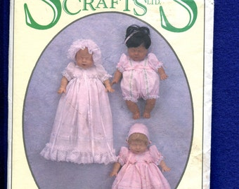 Syndee's Crafts Baby Doll Clothes Pattern Size 12 inch Doll UNCUT
