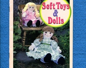 Family Circle Soft Toys & Dolls Pattern Booklet for Sewing Crochet Knitting
