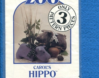 Carol's Zoo Hippo Stuffed Animals Sweet Cuddly & Ready to Hug UNCUT
