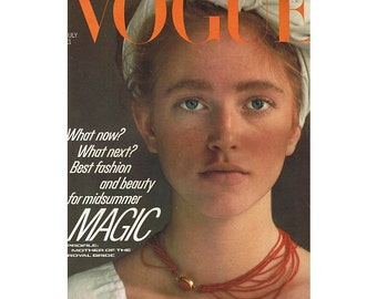 Vogue Magazine - UK July 1981 Vintage edition with cover photograph by Barry Lategan