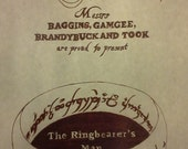 The Ringbearer's Map - Front Page