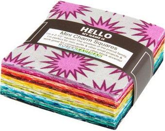 Paintbox Basics - Mini Charm Pack - Elizabeth Hartman for Robert Kaufman - MCH-117-84 - 42 Prints