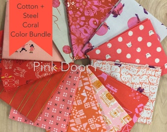 Cotton + Steel - Limited Edition Cotton + Steel Color Color Fat Quarter Bundle (CSCORAL) - 12 prints