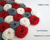 Rose flower blanket crochet pattern