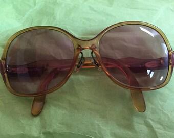 Fab Vintage Christian Dior Eyeglasses Frames 80s Big Over the Top Luxury Frames Stylish Retro!