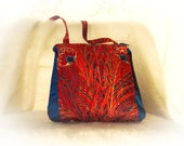 Small Purse Small zippered pouch Peacock Purse Small Bag Again