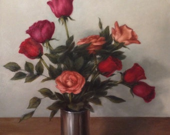 Original Oil Painting Ceri's Roses