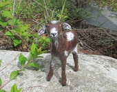Paper Mache Little Brown Goat