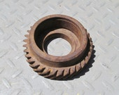 Rusty Vintage Transmission Gear Industrial Art Assemblage Supply