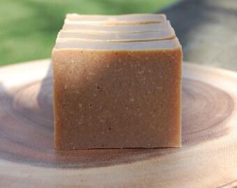 30% Soap Discount, Pumpkin + Cranberry Facial Soap for mature or sensitive skin