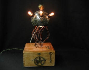 Diabolical Box 145 Tentacles Mad Scientist Steampunk Victorian Science Fiction