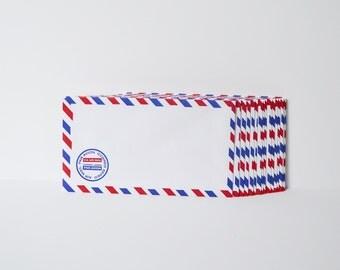 Airmail Envelopes Old Fashioned Envelopes Red Blue Letter Envelopes Air Mail Set of 20