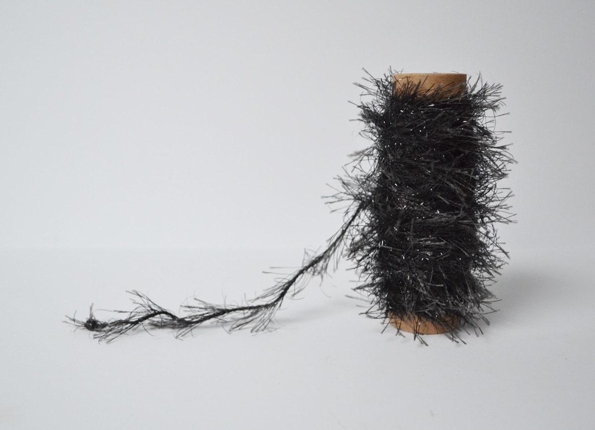 Glitter trim tinsel black twine fuzzy garland