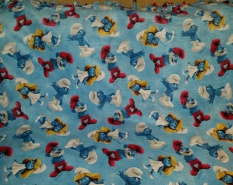 Smurf Fleece Tie Blanket