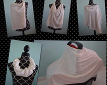 Stretch Car Seat Cover Nursing Cover Combo