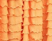 "9"" Remnant California Poppy Cascading Ruffle Fabric, orange ruffle fabric, halloween, fall, autumn fabric"