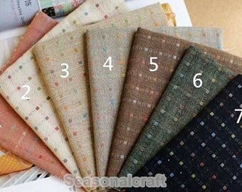 Jacquard Cotton Fabric, Polka Dots Yarn-Dyed Pre Washed Cotton Fabric, 7 Colors for Choice, Cotton Fabric- 1/2 Yard (QT842)