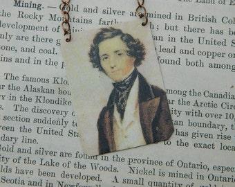 Mendelssohn Jewelry Composer jewelry classical music mixed media jewelry