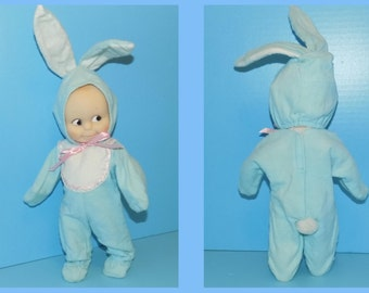Jesco Cameo Kewpie Blue Bunny Doll