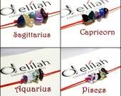 Sagittarius Bracelet Capricorn Zodiac Jewelry Aquarius Bracelet Pisces Bracelet String Bracelet Birthstone Bracelet Gemstone Bracelet