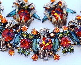 Juliana D&E Venus Flame Rhinestone Bracelet Earring Set