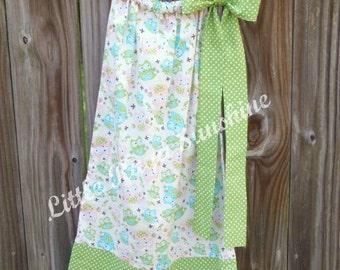 Infant/Toddler/Little Girl Owl Pillowcase Dress