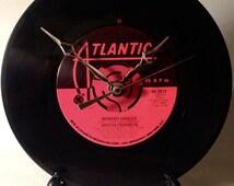 "Recycled ARETHA FRANKLIN 7"" Record / Spanish Harlem / Record Clock"
