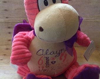 New baby gift - baby stats gift - baby dragon - baby girl gift