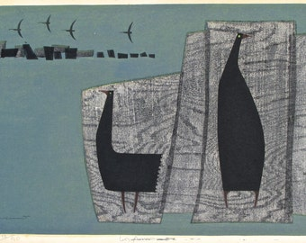Kunihiro Amano Original Woodblock Signed Print 12/50