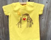 Kissing Giraffe Child's Tee