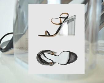 MASION MARTIN MARGIELA Acrylic Heel Sandal