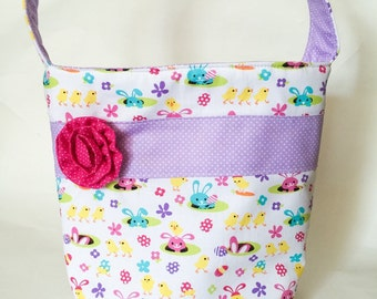 Easter Bunny Fabric Easter Basket