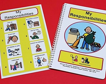 My Responsibilities - PECS Social Story and Picture Schedule Board for Visual Aid Autism - Chore Social Stories - The Autism Whisperer