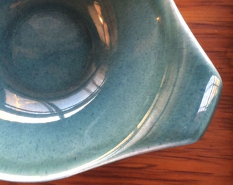 Russel Wright Seafoam Dessert Bowls with Lug Handles, American Modern by Steubenville, ca.1940s