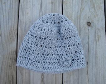 Roslyn Slouch Hat Crochet Pattern, Easy Crochet Lace Design, Beanie Hat Toque, Women & Teen Girls
