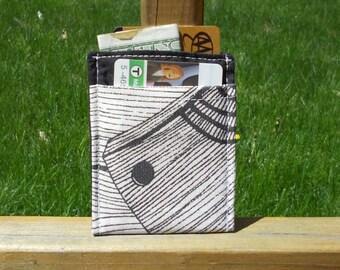 Card Sleeve, Minimalist Wallet, Wood Grain, One of a Kind